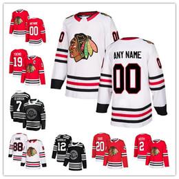 Blackhawks personalisiertes jersey online-Chicago Blackhawks Eishockey Trikots Custom jeder Name jede Nummer Stickerei Personalisierte Hockey Mens Frauen Jugend Trikot