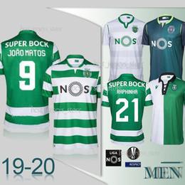Sporting lisbon trikots online-Thai Sporting Lissabon zu Hause weiß FERNANDES RAPHINHA Fußballjerseys 19 20 Sport lissabon dritte PHELLYPE WENDEL ACUNA camiseta de fútbol