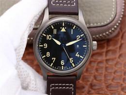 2019 orologi in titanio Gs-iw327006 orologio di lusso cassa in titanio 35111 movimento vetro zaffiro cinturino in pelle calendario funzione orologi da uomo orologi in titanio economici