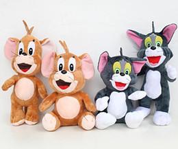 2019 juguetes tom El gato y el ratón colocan la postura de pie modelo Tom y Jerry muñeco de peluche de juguete muñeca adornos Juguetes al por mayor rebajas juguetes tom