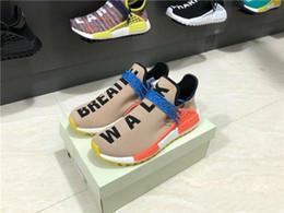 2019 Vendita calda Pharrell Williams Tr Human Race Hu Trail Scarpe casual Uomo Donna PWl Stivali Solar Pack Sneakers Sport da vendita casual stivali uomo fornitori
