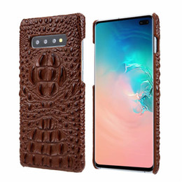 2019 caixa de nota de couro de crocodilo Para galaxy s10 e s9 s8 nota 9 designer de moda de luxo cabeça de crocodilo capa de couro genuíno para iphone x xs max xr 7 8 além de huawei mate 20 pro caixa de nota de couro de crocodilo barato