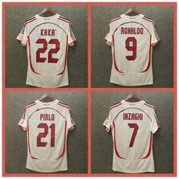 Ретро 2006 Милан дома футболки футболки 06 07 футболка высокого качества одежда МАЛЬДИНИ 3 Кака 22 Индзаги 9 пирло 21 Старинные футболки от