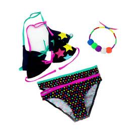 2019 neuer Sommer-Badeanzug-Mädchen-aufgeteilte zweiteilige Badebekleidung, Kinder nette Sternchen-Vereinbarung aufgeteilte Bikini-Mädchen-Badeanzug-Großverkauf S19712 von Fabrikanten