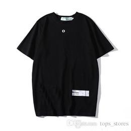 Padrões de camisa para homens grátis on-line-19 modelos de explosão de caixa branca LOGOTIPO letras designer de verão dos homens com padrão T-shirt frete grátis
