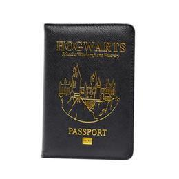 Titolari di passaporto rfid online-Passaporto Copertura Rfid Blocking PU Hogwarts Passport Custodia personalizzata per portafogli Filippine