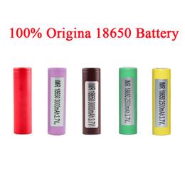 2019 samsung 25r Autêntica Bateria 18650 LG HG2 Samsung INR18650 30Q 3000 MAH HE2 HE4 INR 25R 2500 mah Baterias Recarregáveis Usando Celular EC041 desconto samsung 25r