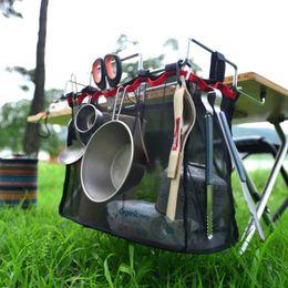 Acampamento Ao Ar Livre De Armazenamento De Fio De Rack Saco Portátil Mesa De Piquenique Kit Churrasco Cozinha Sundries Net Terno equipamentos de camping de