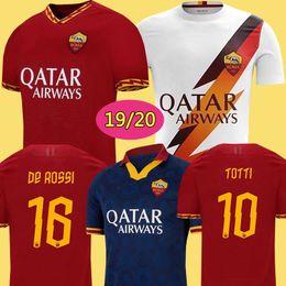2020 camisetas de futbol maillot Tailandia DZEKO PEROTTI PASTORE ZANIOLO camiseta de fútbol 2019 roma TOTTI Jersey 19 20 camiseta de fútbol kit DE ROSSI 2020 maillot de pie roma camisetas de futbol maillot baratos