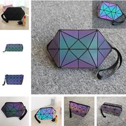Качество флейты онлайн-Горячая корейская версия световой косметический мешок Cluth мешок Lingge флейта квадратный узор косметические сумки высокое качество хранения сумки T7D5007