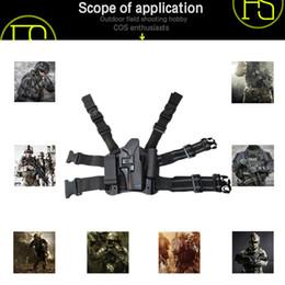 Fundas de plastico online-Fábrica directa tácticas al aire libre 1911 pistola pistolera M92 patas de plástico duro juegos G17 funda rápida