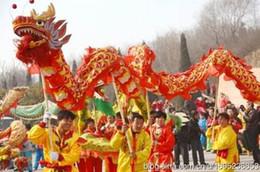 Ejderha Tekne Boyutu 5 # 7 m ipek baskı kumaş açık spor sahne dekor Çin Ejderha Dans Halk maskot kostüm özel kültür tatil parti nereden
