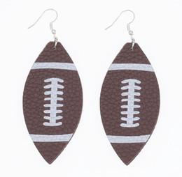 Canada Boucles d'oreilles en forme de larme de balle-molle Boucles d'oreilles en forme de larme de balle en cuir de balle-molle Baseball Football Offre