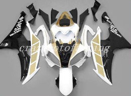 Or r6 en Ligne-New ABS injection moule moto Carénages Kits Fit YAMAHA YZF-R6-600 2008-2016 08 09 10 11 12 13 14 15 16 carrosserie jeu d'or personnalisé