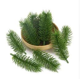 15pcs 10cm piante artificiali rami di pino albero di natale decorazioni di nozze fai da te accessori artigianali regalo dei bambini bouquet da