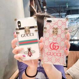 Iphone прозрачная оболочка онлайн-Для iPhone X XR XS MAX Mobile Shell Прозрачный ТПУ Бренд-Дизайн Мягкий Чехол для iPhone 6 6 плюс 7 7 плюс 8 8 плюс Чехол