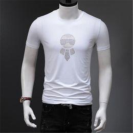 Pailletten t-shirts online-Luxus Mens Designer Tshirts O Hals Kurzarm Tops Sommer KL Pailletten Print Tees Männliche Kleidung