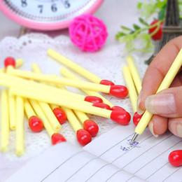 penna a sfera coreana Sconti 20 PZ Coreano Creativo Matchstick Penne a sfera Forniture per ufficio Penna a sfera Penna Forniture scolastiche per studenti Scrittura di articoli di cancelleria