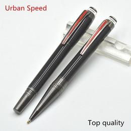 2019 proveedores de cristal Top Grade Urban Speed MB bolígrafo de rodillo de resina de color negro brillante con cristal plano superior proveedor de oficina de la escuela escribir bolígrafos de lujo como el mejor regalo proveedores de cristal baratos