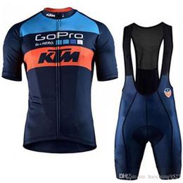 rosso pattino di ciclismo Sconti Ciclismo UCI Set 2019 KTM Pro Team Bicicletta Ciclismo Abbigliamento Ropa Ciclismo Hombre Mtb Bici da ciclismo Estate Pantaloncini Set