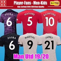 2019 copa real madrid Tailandia FC Manchester POGBA Camiseta de fútbol 2019 2020 MARTIAL MAGUIRE JAMES RASHFORD Versión de jugador Camiseta United UtD 19 20 Hombre Conjunto de kit para niños