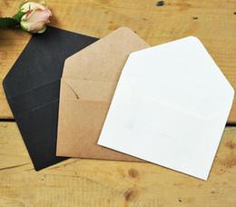 Черная бумажная оболочка онлайн-Классический Белый Черный Крафт Бланк Мини Бумажные Окна Конверты Свадебные Приглашения Конверт Подарочный Конверт