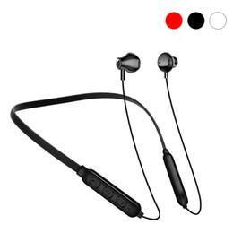 Auricular inalámbrico Bluetooth 5.0 Auriculares deportivos en la oreja con micrófono CVC Reducción de ruido Auriculares con banda magnética para el cuello Para auriculares iPhone X Samsung desde fabricantes