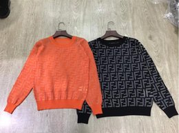 free crochet ponchos Rabatt Milan Runway Sweater 2018 Weiß / Schwarz Langarm O-Neck Damen Pullover High End Letter Jacquard Pullover Damen Designer Sweate