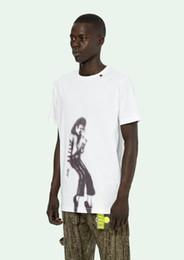 Дешевый бедро t онлайн-19ss мужчин дизайнер футболки мужчин Майкл Джексон printT футболку от хип-хоп Белый люкс мужская рубашка рыхлой футболку дёшево горячей свободной перевозкой груза