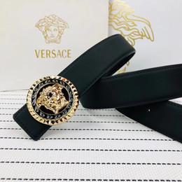 Cintura veloce online-Cinture di design di alta qualità Uomo in vera pelle Aolly Smooth fibbia Cinture Uomo Design cinture di colore nero Alta marca cinture veloce nave