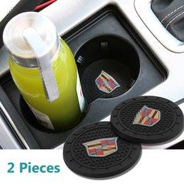 2019 etc accessoires 2 tapis de jeu d'accessoires intérieurs de voiture 2,75 pouces pour tapis anti-dérapant pour Cadillac Escalade, CTS, SRX, BLS, ATS, STS, XTS, SXT, etc. Tous les modèles etc accessoires pas cher