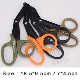 Forbici a tasca online-Wholesale ETM EDC Gear Scissors Stainless Steel Pocket Scissor Paramedic Bandage Shears Emergency Survival Rescue Medical Tool DBC BH2868