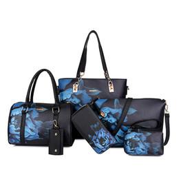 Розовый sugao дизайнерские сумки с принтом цветок женщины 2018 новый стиль 6 шт / комплект искусственная кожа Sac à основная сумка сумка через плечо кошелек кошелек от
