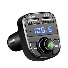 Комплект радиоприемников онлайн-Автомобильный комплект FM-передатчик Bluetooth Handsfree MP3-плеер автомобиля Радио 3.1A / QC3.0 Быстрая зарядка Dual USB Автомобильное зарядное устройство аксессуары HHA81