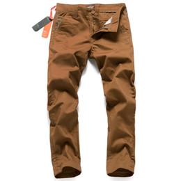 2019 pantalones cargo marrón Moda Casual pantalones de mezclilla marrón con logotipo de la venta caliente para hombre pantalones vaqueros pantalones famosos de la marca supera Jeans hombres pantalones de carga 28-38 U217 rebajas pantalones cargo marrón