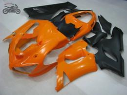 kawasaki ninja 636 kits de corpo Desconto Livre Personalizado carenagem kits para a Kawasaki Ninja ZX6R 2005 2006 636 laranja preto carenagens chineses partes do corpo 05 06 ZX6R ZX 6R