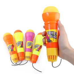 Новинка Детские игрушки Эхо Микрофон Игрушки с черным кабелем не нужны Батареи Мода Детские эхо Микрофон Игрушки от
