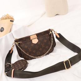 Marchi del marchio del sacchetto online-Personalità Set di tre pezzi Borsa Logo della marca di moda Borse stampate Borsa a tracolla per festa nuziale casual Borse a tracolla vintage per donna