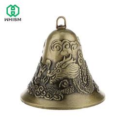 2020 metallo drago auto WHISM Charm Bells Chinese Dragon Phoenix Figure Feng Shui Hanging auto Ornamento in lega di zinco di Natale della Bell del metallo Benedizione Pendant sconti metallo drago auto