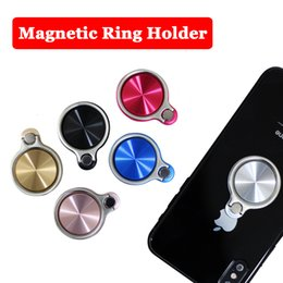 Магнитное Автомобильное Крепление Универсальный Палец Кольцо Держатель Телефона CD Spin Высокое Качество Вращения на 360 Градусов Для Всех Мобильных Смартфонов Ленивый Стенд Grip от