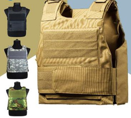 vest hunting Promo Codes - Security Guard Anti-Stab Tactical Vest with two Foam Plate Miniature Hunting Vests adjustable shoulder straps wholesale