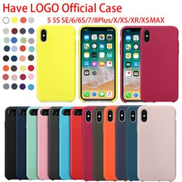 2019 kristallklares volles tpu fall Haben Sie LOGO ursprüngliche Silikon-Fälle für iPhone 6 7 8 plus flüssige Silikon-Fall-Abdeckung für iPhoneX XR XS maximal mit Kleinpaket