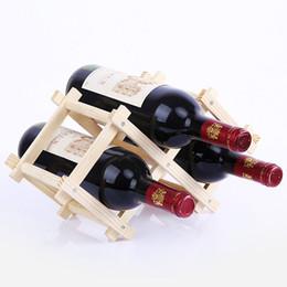 boissons au vin rouge Promotion Casier à vin rouge en bois 3 porte-bouteilles Support barre de présentoir pliant Casier à vin en bois Alcool Soins de la bière Porte-bouteilles