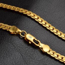 1342b9d4f950 hombres gruesos plata de la cadena Rebajas Cadenas gruesas Collares  Pulseras Hombres Mujeres Lujo 18 k