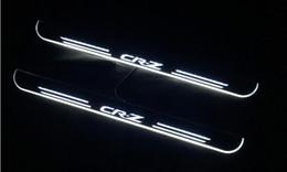 2019 ионные стекла Акриловые Moving педали LED Добро пожаловать автомобилей Scuff педали Тарелка Пороги Тропинка Свет для Honda CRZ CRZ 2010 - 2018