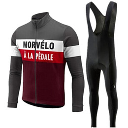 2020 caminhadas de equipes de ciclismo pro road Morvelo manga longa Ciclismo Jersey 2019 calças Pro equipe estabeleceu Ciclismo Roupa Road Bike Jerseys Roupa de bicicleta Bib kits Calças caminhadas de equipes de ciclismo pro road barato