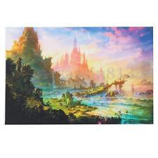 tea wall decor Coupons - Special Offer New Arrival Modern Rectangle Single No Psychedelic Trippy Art Castle Wall Decor Large Tea For Living Room