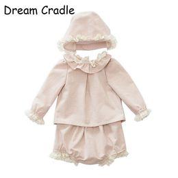 Dream Cradle / Baby Spanish Outfit / Lace Toddler Outfit / Baby Vintage Conjunto de ropa Y19061303 desde fabricantes