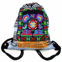 Canada Tribal Vintage Hmong Thai Indien Ethnique Boho sac à dos Boho hippie ethnique sac à dos sac taille L SYS-542C # 226854 cheap indian backpack Offre