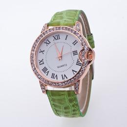 женва смотреть женщины розовые Скидка 2019  new designer Roman leather yellow top quality watch Geneva leather pink blue woman watch ladies gift